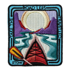 Embroidered Travel Patch - Take the Road Less Travelled