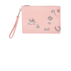 The Crown Jewels Clutch - Blush/Silver