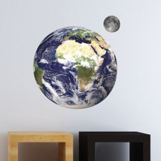 Educational Earth & Moon Wall Stickers