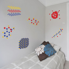 Educational molecules wall stickers