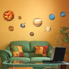 Educational Solar System wall stickers