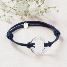 Personalised eternity bracelet