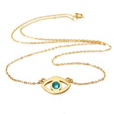 Evil eye necklace 14k gold plated