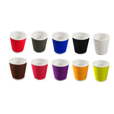 les artistes ondulated espresso cups (set of 10)