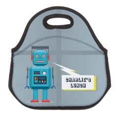 Personalised Neoprene Lunch Bag - Robot