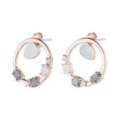 Anna earrings in rose gold plate