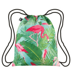 LOQI backpack wild collection flamingos