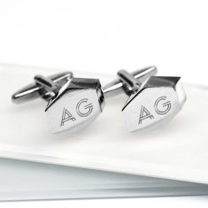 Steel Geometric Cufflinks