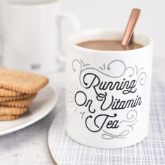 Running On Vitamin Tea Mug