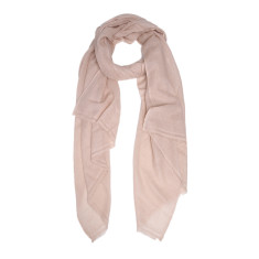 Moye cashmere stole in latte