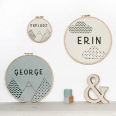 Personalised Geometric Name Hoop