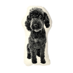 Areaware fauna cushion small poodle