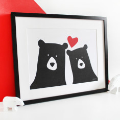 Me & you selfie bear print