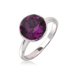 Amethyst round ring