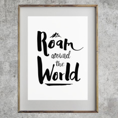 Roam around the world print