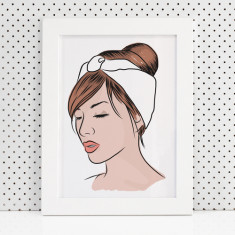 Zoe Fashion Illustration Print