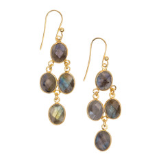 Chan Luu labradorite small cascade earrings