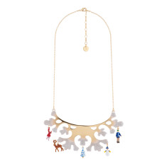 Ice-Covered Antlers And Charms Bib Necklace