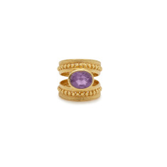 Amethyst and Gold Ring