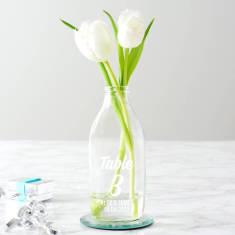 Personalised Wedding Milk Bottle Centrepiece