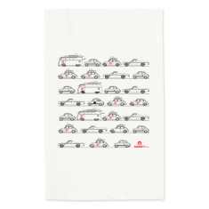 Car enthusiasts tea towel