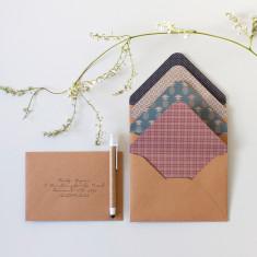 Patterned Stationers Envelopes & Sticker Seals