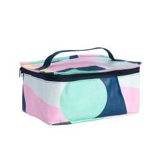 Stash bag in Colour Block print