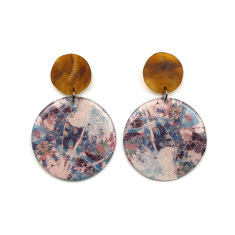 Resin Statement Earrings - Libra
