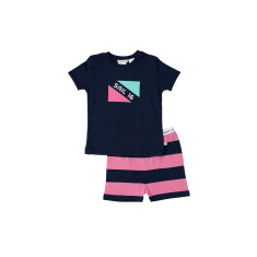 Navy Marle Flag Pj Junior