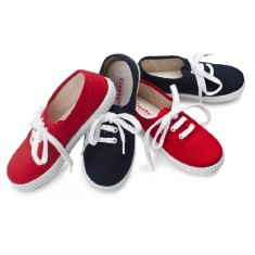 Boys' lace up canvas shoe (various colours)