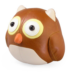 Zuny bookend owl tan