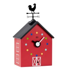 Red Barn Kids' Wall Clock with animal sounds