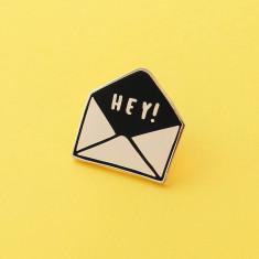 Hey Envelope Enamel Pin