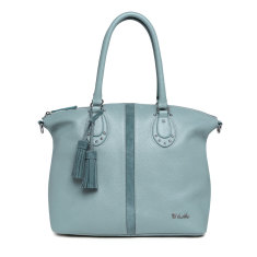 Il Tutto Ellyse Leather Tote Baby Bag in Duck Egg Blue