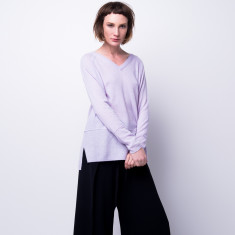 Cashmere double V neck pullover