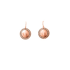 Marrakech Hanging earrings in rose gold plate