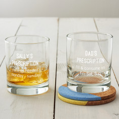 Personalised Prescription Whisky Glass