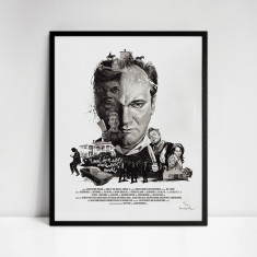 Quentin Tarantino Movie Director Portrait Print