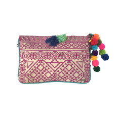 Kavali Pocket Clutch - Fuchsia