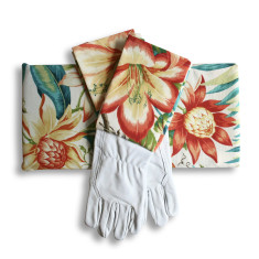 Gardeners kneeling pad & gloves in Bahama Tigerlilly