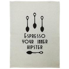 Espresso your Inner hipster tea towel