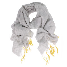 Bondi Cotton Linen Dipped Fringes Scarf (various colours)