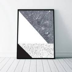 Geometric Marble Art Print (Four Designs)