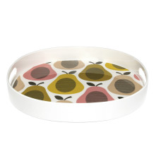 Orla Kiely round square melamine tray