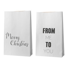 Christmas stocking paper bags (set of 2)
