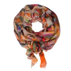 Portofino digital print large cotton modal scarf
