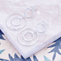 Jaisalmer circle earrings in silver