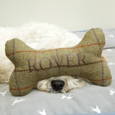 Personalised Tweed Dog Bone