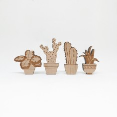 Pot Plant shelfie (set of 4)