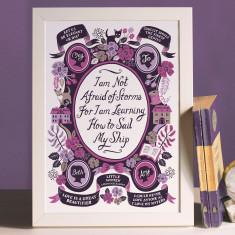 Little Women, Famous Quotes Print